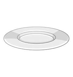 Plate icon cartoon style vector image vector image