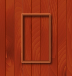 Wooden background with frame overlay vector image vector image