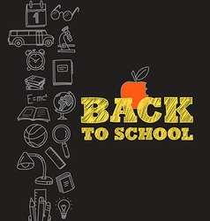 Back to scholl concept vector image vector image