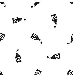 bottle for eye drops pattern seamless black vector image vector image