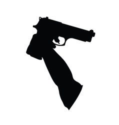 guns in the hand vector image