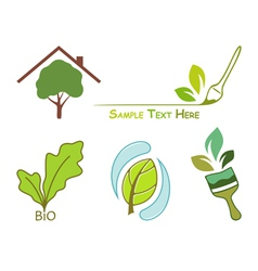 Icons for wood protection vector image vector image