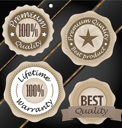 Quality labels vintage style collection vector image