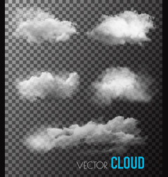 transparent set of smoke vector image