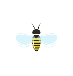 Bee flying icon isolated on white vector image