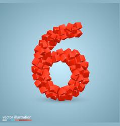 cubes as a symbol font 6 vector image vector image