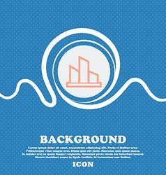 Diagram sign icon Blue and white abstract vector image