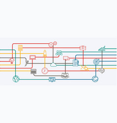 network connections vector image