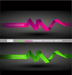 Origami ribbons vector