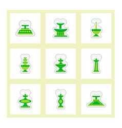 Set of labels on design sticker collection vector