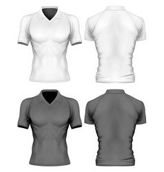 short-sleeve polo-shirt vector image vector image