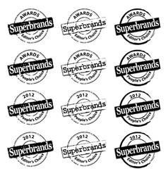 Superbrand Rubber Stamp vector image
