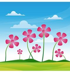 flower pink vector image