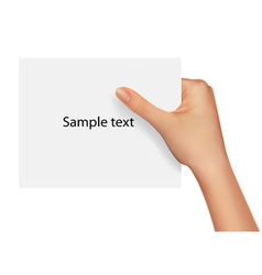 sample text blank paper vector image