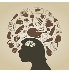Thinks of meal vector image