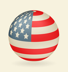 us flag in the shape of a ball icon isolated on vector image
