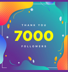 7000 or 7k followers thank you colorful geometric vector