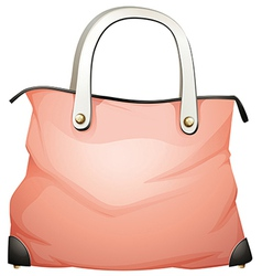 A leather handbag vector