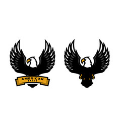 American eagle two versions vector