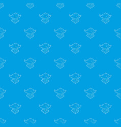 asian pagoda pattern seamless blue vector image