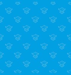Asian pagoda pattern seamless blue vector
