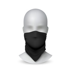 black buff on white mannequin realistic textile vector image
