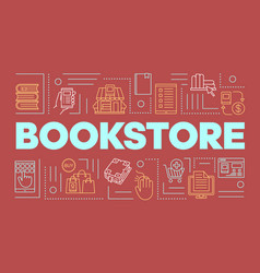 Bookstore word concepts banner buying books vector