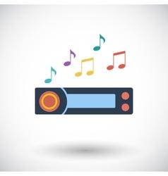 Car radio icon vector image