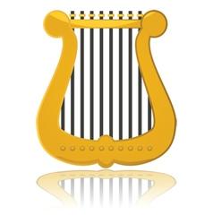 Cartoon harp vector