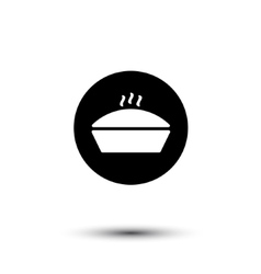 casserole hot cooking icon vector image