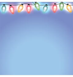 Christmas Holiday Lights on Blue Background vector