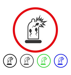 Condom sperm damage rounded icon vector