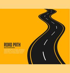 Curve winding roadway background design vector