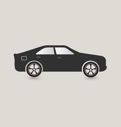 dark grey car icon vector image