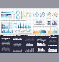 data on infographics and flowcharts templates vector image