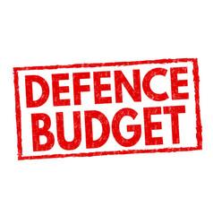 Defence budget sign or stamp vector