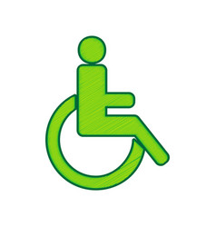 Disabled sign lemon scribble vector