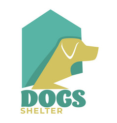 dog shelter or pet shop isolated icon domestic vector image