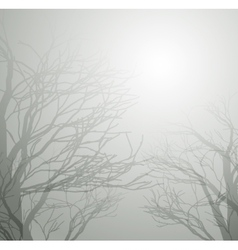 dried trees in winter vector image