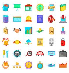 exchange icons set cartoon style vector image