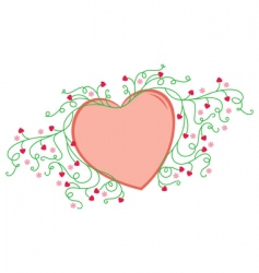 Flowery love vector
