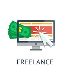 Freelance icon vector