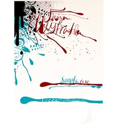 Grunge Splatter Design vector