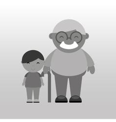 happy grandparents design vector image