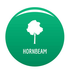 hornbeam tree icon green vector image