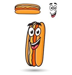 Hotdog with a happy goofy smile vector