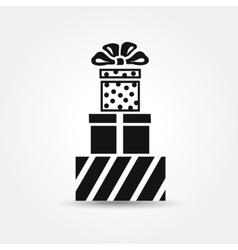 Icon gift box vector