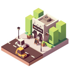 Isometric real estate agency office vector