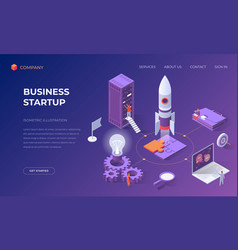 landing page for business startup vector image