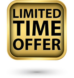 Limited time offer golden label vector